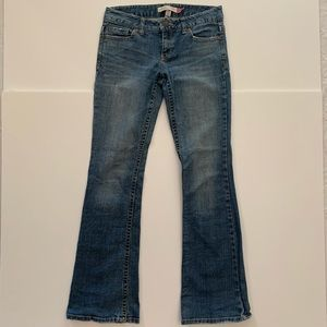 Aeropostale Jean Kailey Skinny Flare Low Rise 3/4R